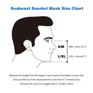 Size Chart for Seabeast Snorkel Mask