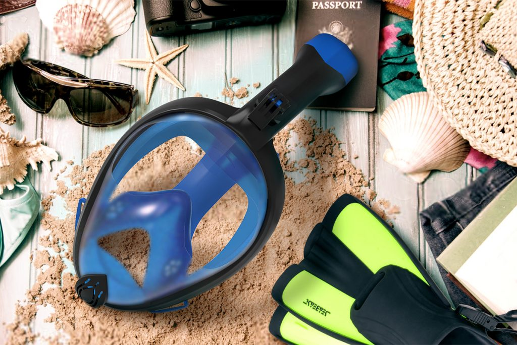 Seabeast snorkel mask and fins
