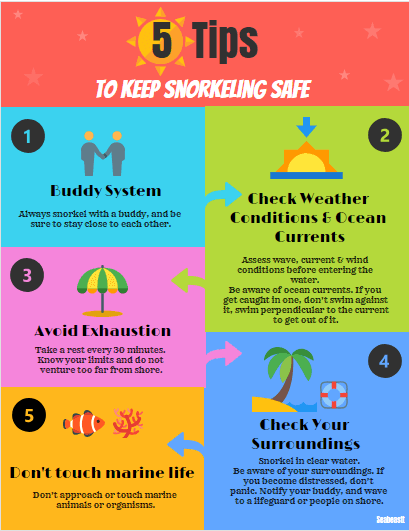 safety tips about snorkeling